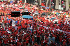 Red Shirts rally on Ratchaprasong Royalty Free Stock Image