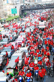 RED SHIRTS RATCHAPRASONG Royalty Free Stock Photography
