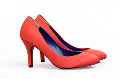 Red shoe. On a white background Royalty Free Stock Photo