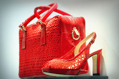 Red Shoe And Bag Royalty Free Stock Photos