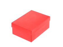Red shoe box isolated on a white background Royalty Free Stock Images