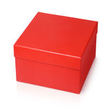 Red shoe box isolated on white Royalty Free Stock Photos