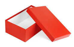 Red shoe box isolated on white Stock Photo