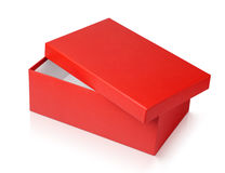 Red shoe box isolated on white Stock Photography