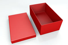Red shoe box  on white Royalty Free Stock Photos