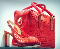 Red shoe and bag Stock Photography