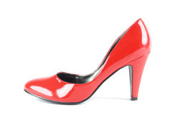 Red shoe   Isolated Stock Photography
