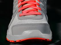 Red Shoe Laces on Running Shoes Royalty Free Stock Photography