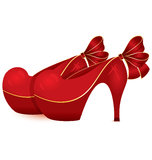 Red shoe pair vector Royalty Free Stock Image