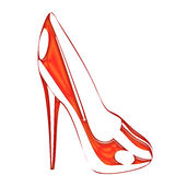 A red Shoe Royalty Free Stock Photos