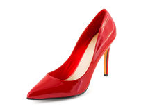 Red shoe. On white background Royalty Free Stock Photography