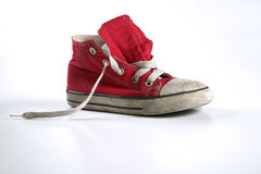 Red shoes. On white background Stock Photos