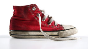 Red shoes. On white background royalty free stock photos