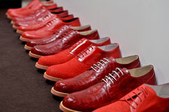 Red shoes. A collection of red shoes Royalty Free Stock Images