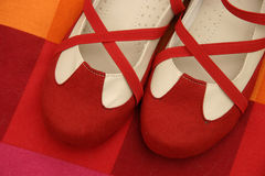 Red shoes stock photography