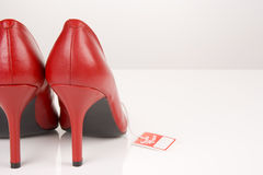Red Shoes. On A White Background Royalty Free Stock Image
