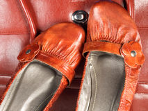 Red shoes and bag Royalty Free Stock Photo