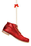 Red shoes with a bow Royalty Free Stock Photography