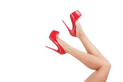 Red shoes. Stock Photo