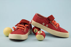 Red shoes for little girl Stock Photography
