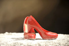 Red Shoes in Sunlight Royalty Free Stock Photo