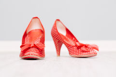 Red shoes. On white background Royalty Free Stock Images