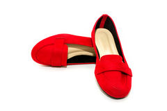 Red shoes on white background. Royalty Free Stock Photo