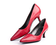 Red shoes for women Royalty Free Stock Images