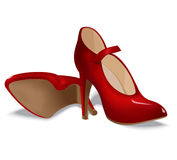 Red shoes for women Stock Photo