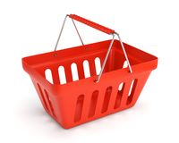 Red shop basket Stock Photos