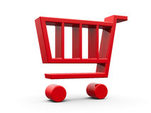 Red shop cart Stock Images