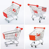 Red shop carts Stock Photo