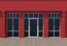 Red shopfront Stock Photos