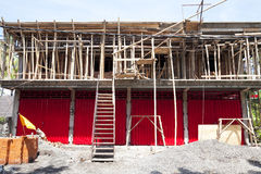 Red Shophouse Under Construction Royalty Free Stock Image