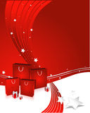 Red shopping Royalty Free Stock Images