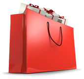 Red shopping bag Royalty Free Stock Photos