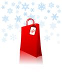 Red shopping bag Royalty Free Stock Images