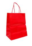Red shopping bag. Decorative with a red shopping bag Royalty Free Stock Image