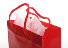 Red shopping bag Stock Photography