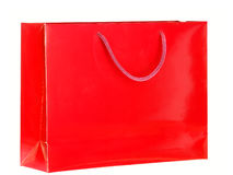 Red Shopping Bag. Royalty Free Stock Photo