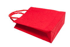 Red shopping bag Stock Photos