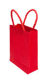 Red shopping bag Stock Images