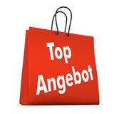 Red Shopping Bag Best Offer Stock Images