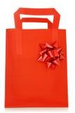 Red shopping bag Stock Photos