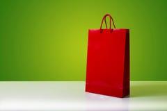 Red shopping bag. Stock Photos