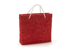 Red shopping bag isolate Stock Photos