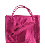 Red shopping bag isolated Stock Photo