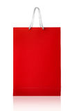Red shopping bag, isolated with clipping path on white backgroun Stock Image
