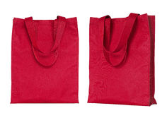 Red shopping bag isolated on white Royalty Free Stock Photos