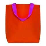 Red shopping bag isolated on white Royalty Free Stock Photography
